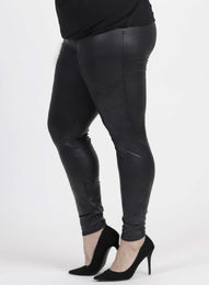 Magna * Musta - leather look leggingsit